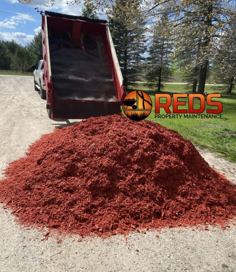 Red Mulch Delivery